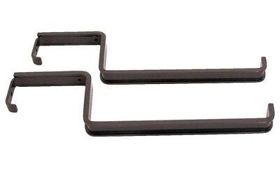 Mintcraft GB0043L Deck Flower Box Railing Brackets, Black, Epoxy