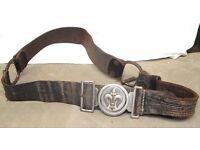 German Pre War Boy Scout (Pfadfinderbund) Buckle and Belt. Ges.Gesch Marked.