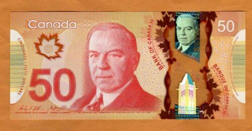 Bank of Canada, $50, 2012, Polymer, P-109b, UNC