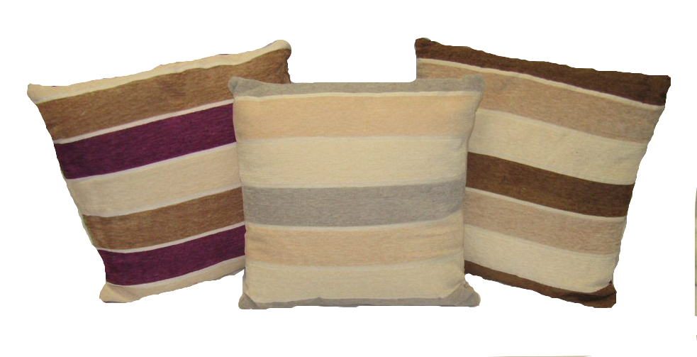 "Striped Decorative Throw  Pillow Cushion Sofa / Bed - 16""X16"