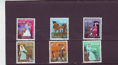 LUXEMBOURG - SG790-795 MNH 1966 FAIRY TALES - WELFARE FUND