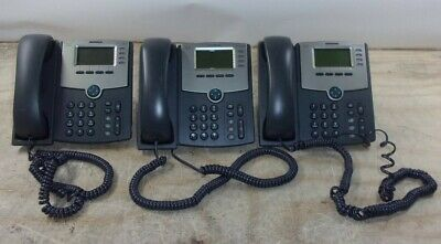 Lot Of 3cisco Spa504g Business Ip Phone 4-line Poe See Notes