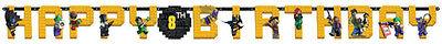 LEGO BATMAN JUMBO LETTER BANNER KIT ~ Birthday Party Supplies Dinner Luncheon DC