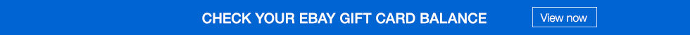 Check your eBay Gift Card Balance | View now