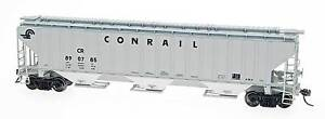 4750-Cubic-Foot-Rib-Sided-3-Bay-Hopper-Conrail-Gray-HO-InterMountain