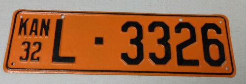 1932 Kansas lost passenger car license plate