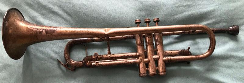 """Antique H.E McMillin & Son """"Crown Model"""" Cornet / Trumpet SILVER restore Project"""