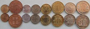 Iceland set of 8 coins 1953-1975 (1+5+10+25+50 aurar 1+5+10 kronur) UNC - <span itemprop=availableAtOrFrom>Warszawa, MAZOWIECKIE, Polska</span> - Iceland set of 8 coins 1953-1975 (1+5+10+25+50 aurar 1+5+10 kronur) UNC - Warszawa, MAZOWIECKIE, Polska