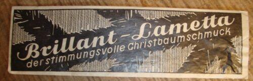 2 German Christmas Tree LEAD Tinsel SILVER Brilliant Eis Lametta c 1930s Icicles