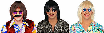 60'S 70'S HIPPIE RETRO DISCO SILLY BOY SONNY BONO ADULT MENS MALE COSTUME WIG  - Sonny Bono Costumes