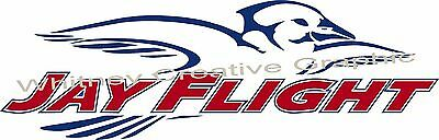 """Jay Flight"" With Outline RV Graphic  trailer.Jayco  JAYFLIGHT Made fresh! 48X14"