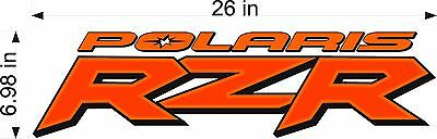 Polaris Logo Rzr   Orange   26  Vinyl Atv Vehicle Graphics Art Emblem Decal