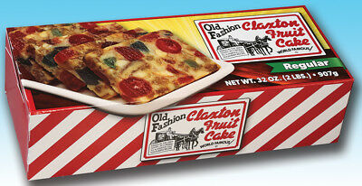 Claxton Fruit Cake 2 Lb. Regular - Shipped Direct From Claxton Bakery, Inc.