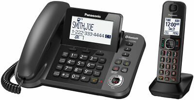 Panasonic Kx-tgf380m Link2 Cell Long Range Bluetooth 2 Handsets Free Shipping