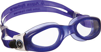 SALE! AQUA SPHERE LADIES KAIMAN SWIMMING GOGGLES CLEAR LENS - PURPLE/WHITE (Swimming Goggles Sale)