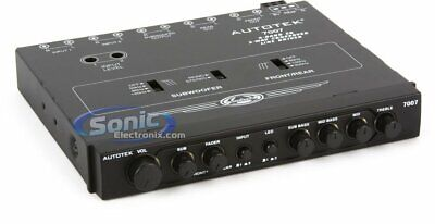 Autotek Model 7007 4-Band EQ / 9-Volt Line-Driver Multiple-Source Signal