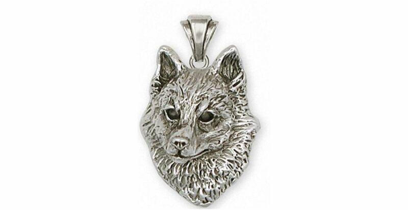 Schipperke Jewelry Sterling Silver Schipperke Pendant Handmade Dog Jewelry SK-P