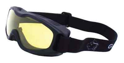 Guard-Dogs Evader II Motorcycle Airsoft Goggles, Golden Lens, Black 055-13-01