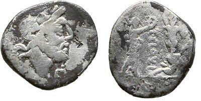 Scarce Ancient Rome 98 BC Silver Quinarius JUPITER VICTORY