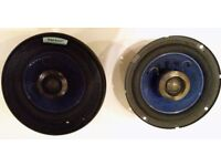 Pair of Alpine 6.5 inch coaxial speakers 40W/160W with grills and blue cones SPR-172B