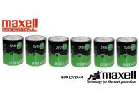 600 Maxell DVD+R //// New / Boxed