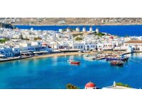Mykonos - Holiday for two for sale June 2018