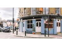 Hackney Pub Cafe Bar Restaurant Music Space w/ Late Liquor License, Pop ups - avail October 13