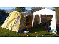 Vango spectrum 500 airbeam tent with airbeam awning.