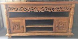 Beautiful hand-carved, hardwood sideboard/TV unit