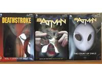 DC Comics Book and Mask sets. Batman. Deathstroke. DC Comics/Graphic novel's.
