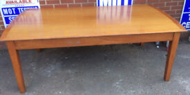 office meeting table in real wood with glass top also use as dinning table conference desk