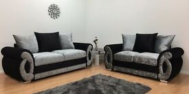 Chloe Velvet Sofa **Home Delivery Available**