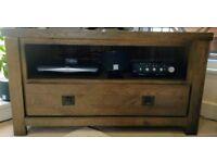Oak Furniture Land Solid Dark Oak TV Cabinet