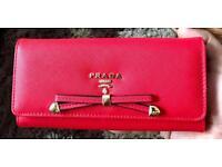 Brandnew ladies Prada Luxury Purse Red Ideal Valentines day Goft Cheap sale girls