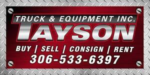 CONSIGNMENTS WANTED - TAYSON TRUCK & EQUIPMENT