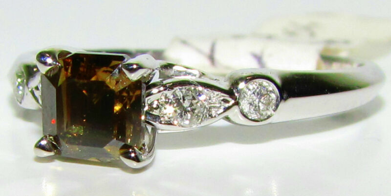 █$9000 Natural Brown Color Diamond Ring█ Newtique