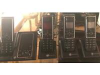 Panasonic slim cordless house phones with integral answer phone