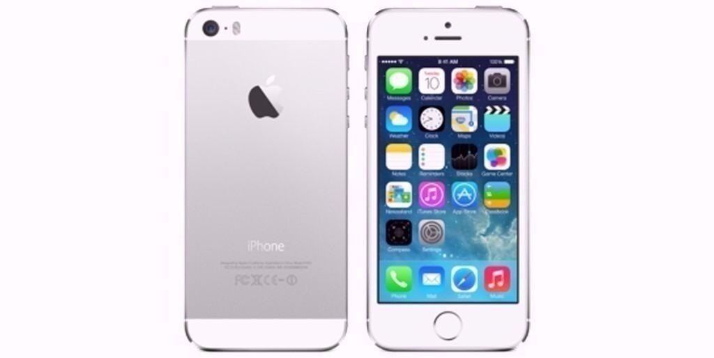 iPhone 5S Silver 32GB on EE