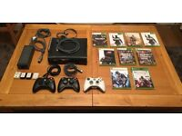 Xbox 360 Elite (120GB HD) with 9 games & 3 controllers