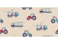 Cute Laura Ashley Trucks & Tractors material