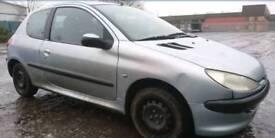 Breaking 2002 Peugeot 206 silver