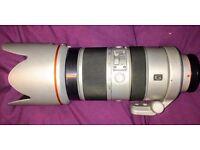 Sony G-Series 70400G A-mount digital camera lens 70-400mm F/4.0-5.6 SSM G Lens