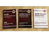 £3 EACH- GCSE MATHS & SCIENCE CGP STUDY BOOKS