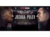 X2 Joshua vs Pulev Tickets - Top Seats - Tickets In Hand