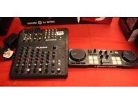 ALESIS MULTIMIX8 USB FX MIXER/ USB RECORDING INTERFACE AND A HERCULES DJ CONTROL COMPACT 2