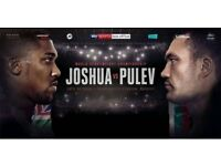 ANTHONY JOSHUA VS KUBRAT PULEV (4 X TICKETS AVAILABLE