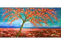 "Oil painting ""Tree of hopes"" handmade, canvas"