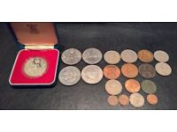 Commermorative coins and small set of British pre-decimal coins