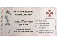 Autumn Craft Fair Nov 5th at St Richard Reynolds School, Twickenham