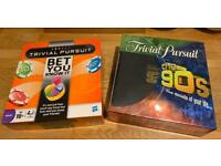 2 fantastic condition Trivial Pursuit board games